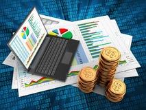 3d business documents Stock Photos