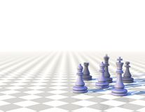 3d business elegant background with chess pawns Royalty Free Stock Images