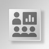 3D business finance icon Business Concept. 3D Symbol Gray Square business finance icon Business Concept Royalty Free Stock Photography