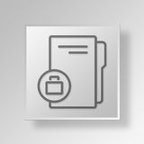 3D business folder icon Business Concept. 3D Symbol Gray Square business folder icon Business Concept Royalty Free Stock Image