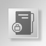 3D business folder icon Business Concept. 3D Symbol Gray Square business folder icon Business Concept Royalty Free Stock Images