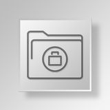 3D business folder icon Business Concept. 3D Symbol Gray Square business folder icon Business Concept Royalty Free Stock Photography