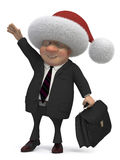 3d business gentleman Santa Royalty Free Stock Image
