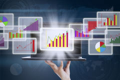 3D Business graph Royalty Free Stock Image