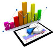 3d business graph Stock Photos