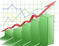 3d business graph. Illustration of the 3d business graph Stock Images