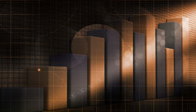 3d business growth graph Royalty Free Stock Photography