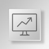 3D business growth icon Business Concept. 3D Symbol Gray Square business growth icon Business Concept Stock Image