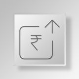 3D business growth icon Business Concept. 3D Symbol Gray Square business growth icon Business Concept Stock Images