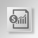 3D business growth icon Business Concept. 3D Symbol Gray Square business growth icon Business Concept Royalty Free Stock Images
