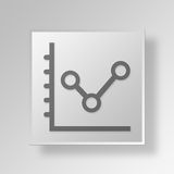 3D business growth icon Business Concept. 3D Symbol Gray Square business growth icon Business Concept Stock Photos