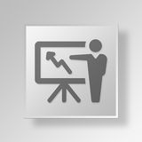3D business growth icon Business Concept. 3D Symbol Gray Square business growth icon Business Concept Stock Photography