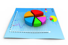 3d business growth  pie graph. 3d render of business growth  pie graph Royalty Free Stock Photo