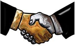 3d business handshake Stock Photo