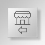 3D Business icon Business Concept. 3D Symbol Gray Square Business icon Business Concept Royalty Free Stock Image