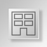 3D Business icon Business Concept. 3D Symbol Gray Square Business icon Business Concept Royalty Free Stock Photography