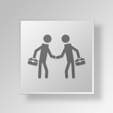 3D Business icon Business Concept. 3D Symbol Gray Square Business icon Business Concept Royalty Free Stock Images