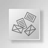 3D Business icon Business Concept. 3D Symbol Gray Square Business icon Business Concept Royalty Free Stock Photo