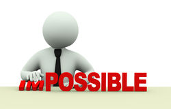 3d business impossible possible words Stock Image