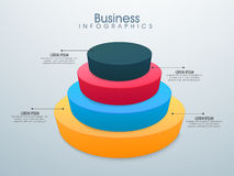 3D Business Infographic elements set. 3D colorful Business Infographic element on glossy background for your professional presentation Stock Images