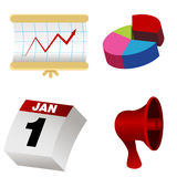 3d Business Items. An image of a 3d business item set Royalty Free Stock Images