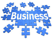 3d Business jisaw puzzle. 3d render of a jigsaw puzzle with business design Stock Images
