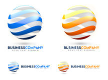 3D Business Logo. 3D Blue and Orange Business logo representing a sliced cutted twisted sphere Royalty Free Stock Image