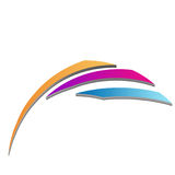 3d business logo. In blue and pink Royalty Free Stock Photography