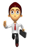 3D Business man character on Running. Work and Job Character Des Royalty Free Stock Image