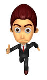 3D Business man character on Running. Work and Job Character Des Royalty Free Stock Photo