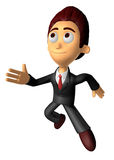 3D Business man character on Running. Work and Job Character Des Stock Photography