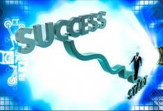3d business man climb start to success illustration Stock Photos