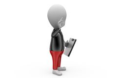 3d business man with file concept Royalty Free Stock Images