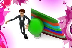 3d character growth idea illustration Royalty Free Stock Image