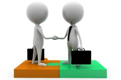 3d business man handshake concept Royalty Free Stock Photo