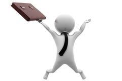 3d business man jump concept Stock Photo