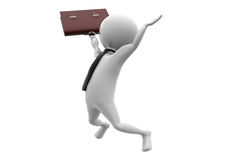 3d business man jump concept Stock Photography
