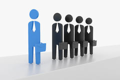 3D Business man lead the team Royalty Free Stock Photo