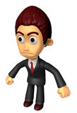 3D Business man Mascot as a gesture of anger. Work and Job Chara Royalty Free Stock Images