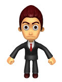 3D Business man Mascot as a gesture of anger. Work and Job Chara Royalty Free Stock Photos