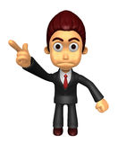 3D Business man Mascot An expression of dissatisfaction to be po Stock Photo