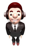 3D Business man Mascot is a polite greeting Stock Photography