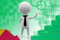 3d business man presenting illustration Royalty Free Stock Photo