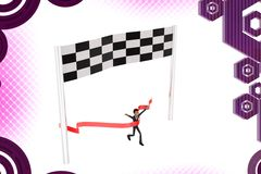 3d business man race illstration Stock Photo