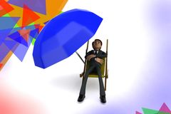 3d character rest illustration Royalty Free Stock Photo