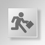 3D Business Man Rushing icon Business Concept Stock Photos