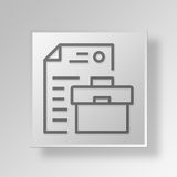 3D Business Management icon Business Concept Royalty Free Stock Photo