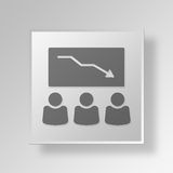 3D Business Meeting icon Business Concept. 3D Symbol Gray Square Business Meeting icon Business Concept Royalty Free Stock Photos