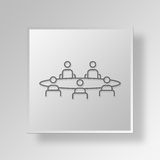 3D Business Meeting icon Business Concept. 3D Symbol Gray Square Business Meeting icon Business Concept Royalty Free Stock Images