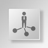 3D Business Network icon Business Concept. 3D Symbol Gray Square Business Network icon Business Concept Royalty Free Stock Image